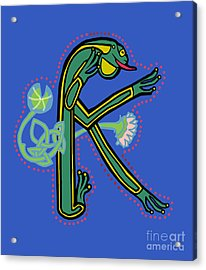Medieval Frog Letter K Acrylic Print