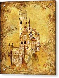 Medieval Golden Castle Acrylic Print