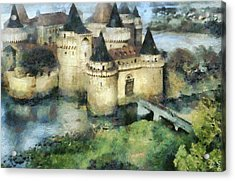Medieval Knight's Castle Acrylic Print by Sergey Lukashin