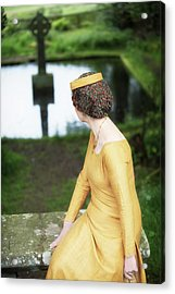 Medieval Lady  By Celtic Cross Acrylic Print