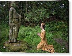 Medieval Lady Praying To Saint Ninian 2 Acrylic Print