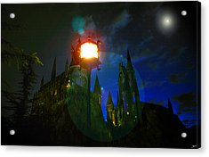 Medieval Night Acrylic Print by David Lee Thompson