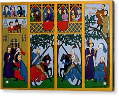 Acrylic Print featuring the painting Medieval Scene by Stephanie Moore