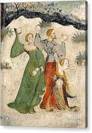 Medieval Snowball Fight Acrylic Print by Maestro Venceslao