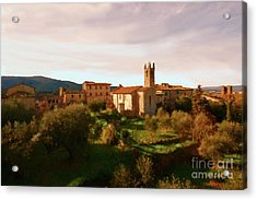 Acrylic Print featuring the painting Medieval Tuscany by Rosario Piazza