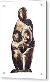 medieval Venus - fertility symbol Acrylic Print by Michal Boubin