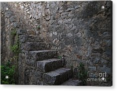 Medieval Wall Staircase Acrylic Print by Angelo DeVal