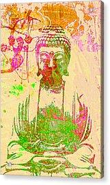 Meditating Buddha  Acrylic Print by Brian Broadway