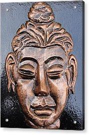 Meditating Buddha Acrylic Print by Rajesh Chopra