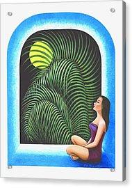 Meditation Acrylic Print by Belle Perez-de-Tagle