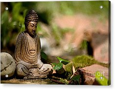 Acrylic Print featuring the photograph Meditation by Jean Bernard Roussilhe