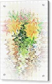 Meditation Pond Acrylic Print by Ann Johndro-Collins