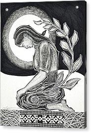 Meditation Acrylic Print by Raul Agner
