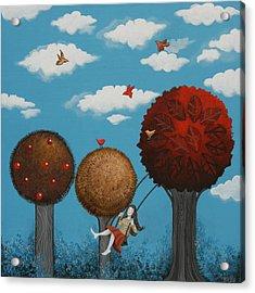 Meditation Under The Trees Acrylic Print by Graciela Bello