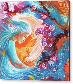 Meditation Acrylic Print by Valerie Graniou-Cook