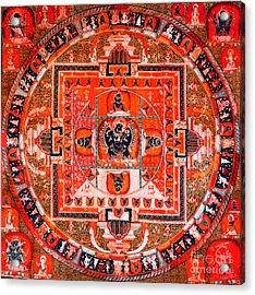 Meditation Yoga Mandala Yuan Dynasty Acrylic Print
