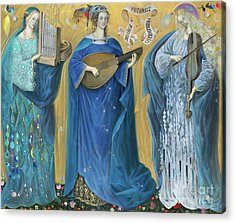 Meditations On The Holy Trinity  After The Music Of Olivier Messiaen, Acrylic Print by Annael Anelia Pavlova