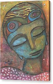 Acrylic Print featuring the mixed media Meditative Awareness by Prerna Poojara