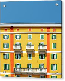Mediterranean Colours On Building Facade Acrylic Print