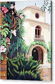 Mediterranean Villa Acrylic Print by Christopher Reid