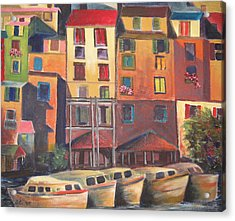 Mediterranean Waterfront Acrylic Print