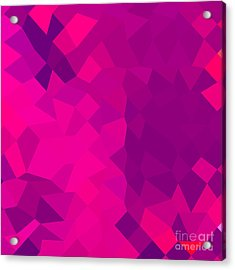 Medium Violet Red Abstract Low Polygon Background Acrylic Print by Aloysius Patrimonio
