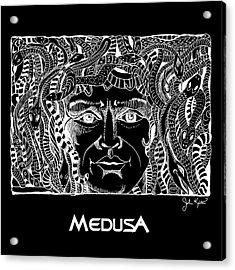Medusa Design Acrylic Print by John Keaton