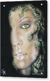 Medusa Acrylic Print by John Sodja