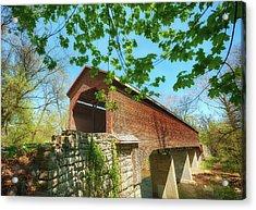 Meem's Bottom Bridge In Spring Acrylic Print