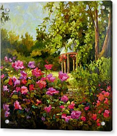 Meet Me In The Garden Acrylic Print by Chris Brandley