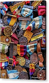 Acrylic Print featuring the photograph Meet Medals by Christopher Holmes
