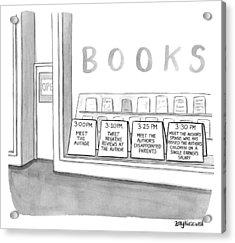 Meet The Author Acrylic Print by Amy Kurzweil
