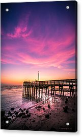 Meeting On The Pier Acrylic Print by Marvin Spates