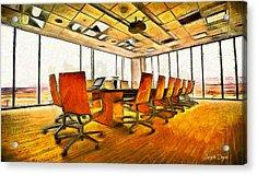 Meeting Room - Pa Acrylic Print by Leonardo Digenio