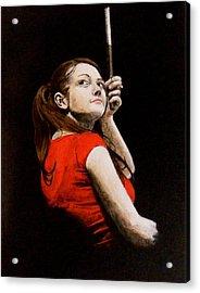 Meg White Acrylic Print by Luke Morrison