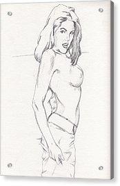 Megan - Sketch Acrylic Print