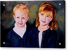 Megan And Justin Acrylic Print by Stan Hamilton