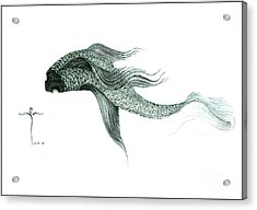 Acrylic Print featuring the drawing Megic Fish 1 by James Lanigan Thompson MFA