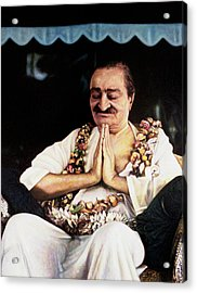 Meher Baba 2 Acrylic Print by Nad Wolinska