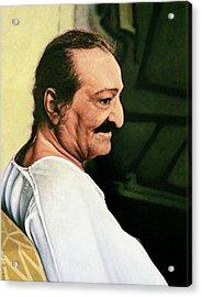 Meher Baba 3 Acrylic Print by Nad Wolinska