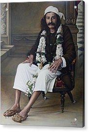 Meher Baba Acrylic Print by Nad Wolinska
