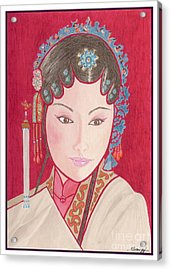 Mei Ling -- Portrait Of Woman From Chinese Opera Acrylic Print