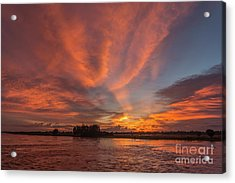 Acrylic Print featuring the photograph Mekong Sunset 3 by Werner Padarin