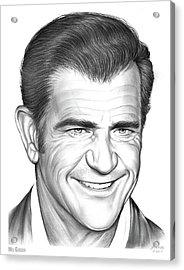 Mel Gibson Acrylic Print