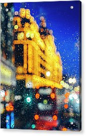 Melancholic London Lights  Acrylic Print