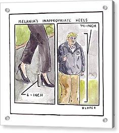 Melania's Inappropriate Heels Acrylic Print
