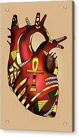 Melanin Heart Acrylic Print by Kenal Louis