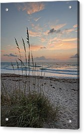 Melbourne Beach Sunrise Acrylic Print by Cheryl Davis