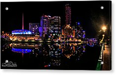 Melbourne By Night Acrylic Print