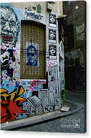 Acrylic Print featuring the photograph Melbourne Graffiti I by Louise Fahy